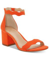 Image of I.N.C. Women's Hadwin Scallop Two-Piece Sandals, Created for Macy's