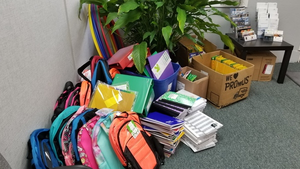 Our yearly back to school drive is growing each year!