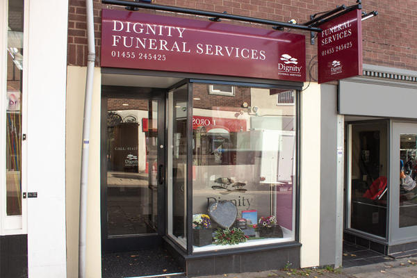 Dignity Funeral Services on Castle Street, Hinckley.