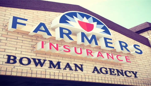 Our new sign with the awesome new Farmers® Insurance logo!