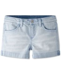 Image of Levi's® Thick Stitch Shorty Shorts, Big Girls