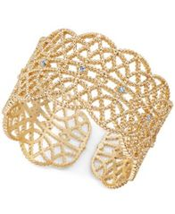 Image of I.N.C. Crystal-Studded Filigree Ring, Created for Macy's