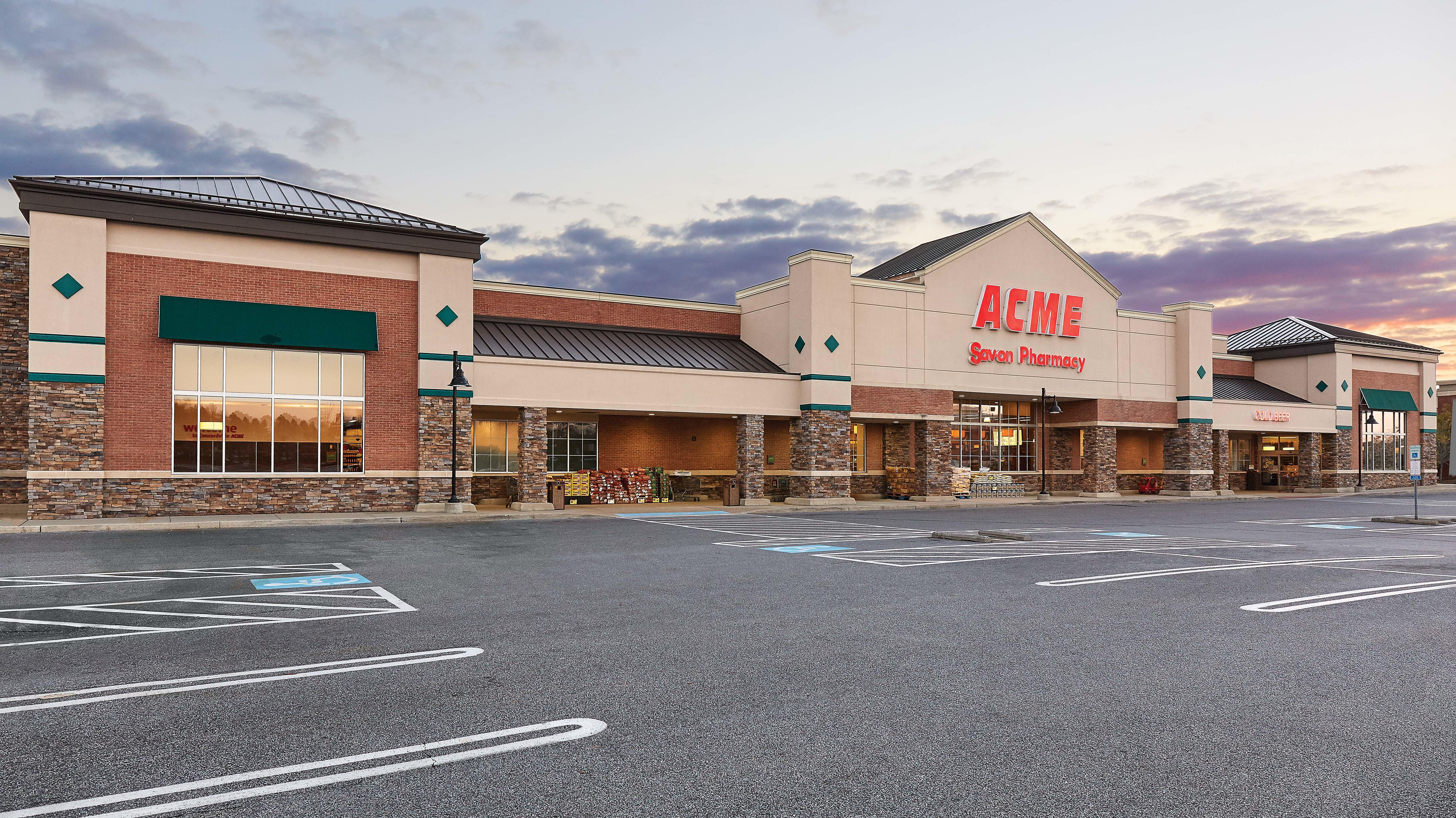 Acme Markets store front picture of store at 101 Byers Dr in Glen Mills PA