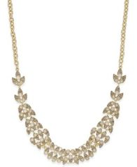 Image of INC International Concepts Gold-Tone Pavé & Pink Stone Statement Necklace, Created for Macy's