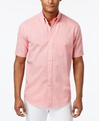 Image of Club Room Men's Short-Sleeve Shirt with Pocket, Created for Macy's