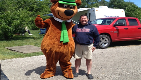 Scott hanging out with Yogi Bear on his free time!