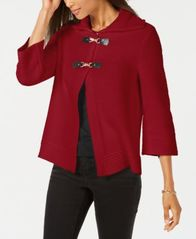 Image of JM Collection Wing-Collar Flyaway Cardigan, Created for Macy's