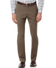 Image of Perry Ellis Portfolio Slim Fit Flat Front No-Iron Dress Pants