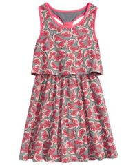 Image of Epic Threads Watermelon-Print Popover Dress, Big Girls, Created for Macy's