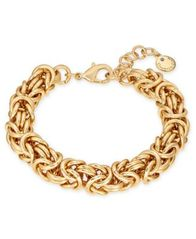 Image of Charter Club Gold-Tone Byzantine Link Bracelet, Created for Macy's