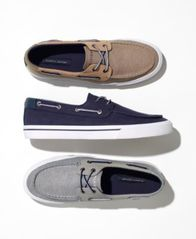 Image of Tommy Hilfiger Men's Phinx Canvas Boat Shoes, Created for Macy's