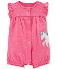 Image of Carter's Baby Girls Cotton Romper