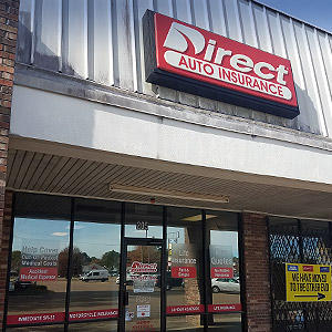 Front of Direct Auto store at 205 Highway 51 North, Brookhaven