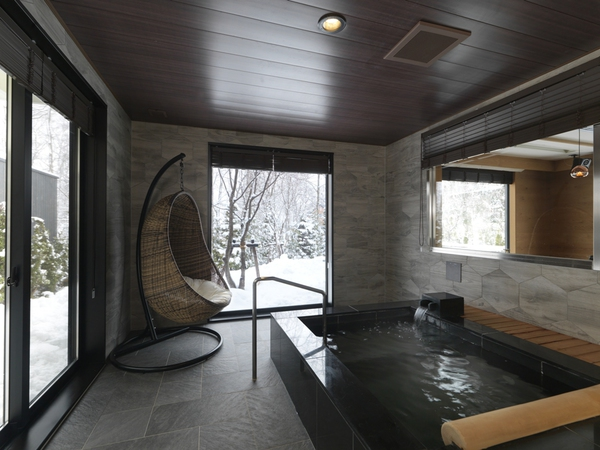 Room with hot spring open-air bath