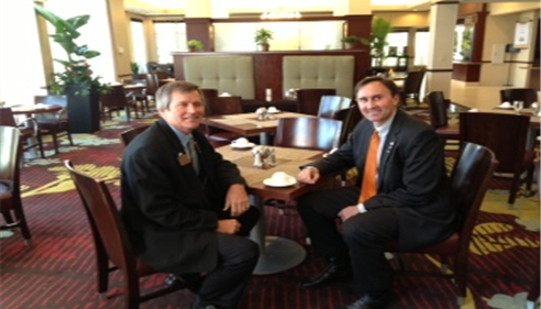 Agent Craig with  Senator Pete Olsen