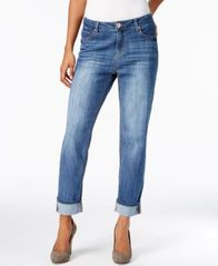Image of Style & Co Slim-Leg Boyfriend Jeans, Created for Macy's
