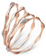 Image of I.N.C. 3-Pc. Set Crystal Wavy Bangle Bracelets, Created for Macy's