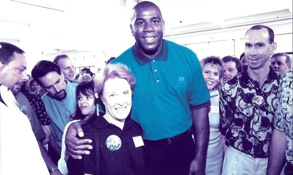 Ruth and Magic Johnson