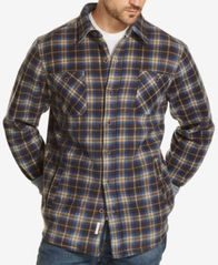 Image of Weatherproof Vintage Men's Plaid Fleece-Lined Shirt Jacket, Created for Macy's
