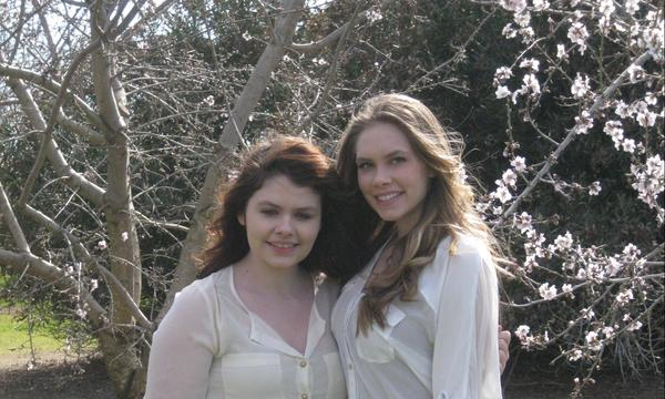Daughters Devin and Ashly, A nice Spring day in Durham, California, 2014.