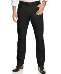 Image of Alfani Slim-fit Cotton Stretch Pants, Created for Macy's