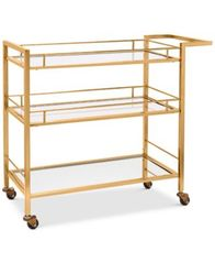 Image of Martha Stewart Collection Copper-Tone Bar Cart, Created for Macy's