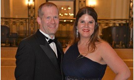 Agent Matt Smith with is wife at Farmers Presidents Council Awards May 2017.