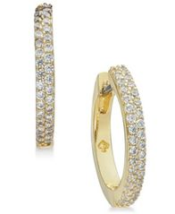 Image of kate spade new york Pavé Huggie Hoop Earrings