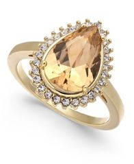 Image of Charter Club Gold-Tone Crystal & Stone Ring, Created for Macy's