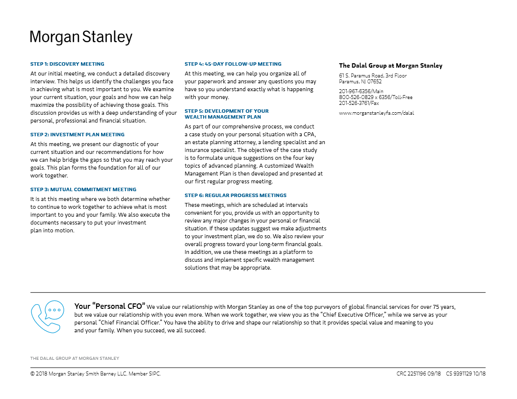 The Dalal Group | Paramus, NJ | Morgan Stanley Wealth Management