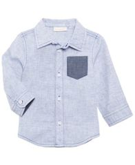 Image of First Impressions Striped Shirt, Baby Boys, Created for Macy's