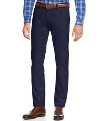 Image of Calvin Klein Men's Sateen Slim-Fit Stretch Pants