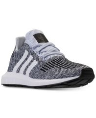Image of adidas Big Boys' Swift Run Running Sneakers from Finish Line