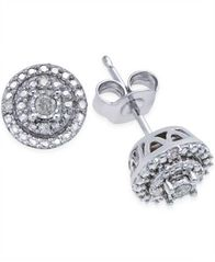 Image of Diamond Stud Earrings (1/10 ct. t.w.) in Sterling Silver