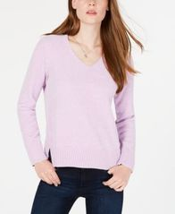 Image of Maison Jules V-Neck Chenille Sweater, Created for Macy's