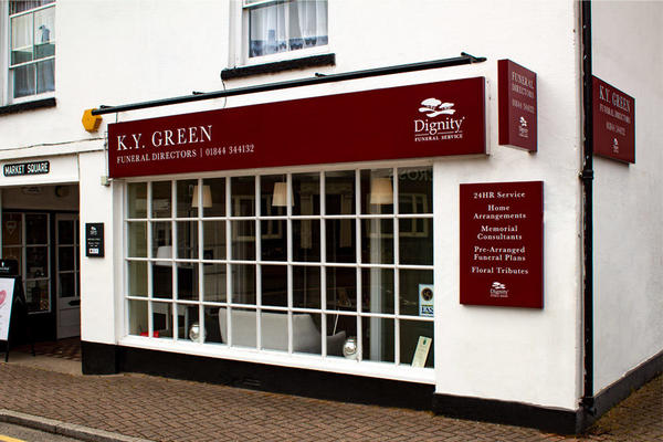 K Y Green Funeral Directors in Market Square, Princes Risborough