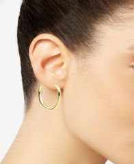 Image of Charter Club Gold-Tone Geometric Hoop Earrings, Created for Macy's