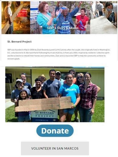 St. Bernard Project - our agency has volunteered time to help rebuild - you can too!
