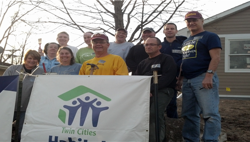 Remodeling a home for Habitat for Humanity in Robbinsdale.