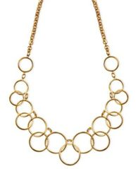 Image of Nine West Necklace, Gold-Tone Circle Frontal Necklace