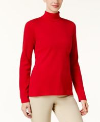 Image of Karen Scott Cotton Long-Sleeve Turtleneck, Created for Macy's