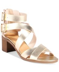 Image of Material Girl Danee Block Heel City Sandals, Created for Macy's