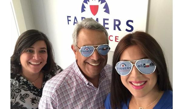 Trying out our new shades with our amazing District Manager, Maria Cordoneda.