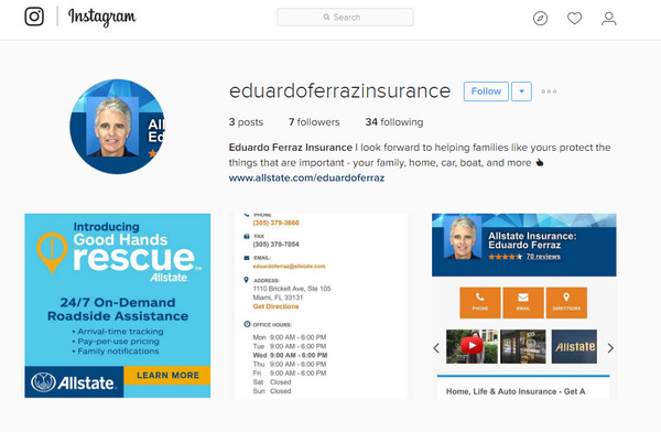 Eduardo Ferraz - Follow us on Instagram @eduardoferrazinsurance!