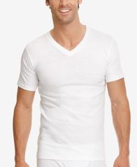 Image of Jockey Men's Tagless Cotton Classic V-Neck 3-Pack Undershirts