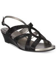 Image of Bandolino Gomeisa Embellished Wedge Sandals