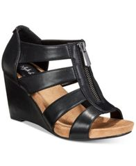Image of Style & Co Fettee Platform Wedge Sandals, Created For Macy's