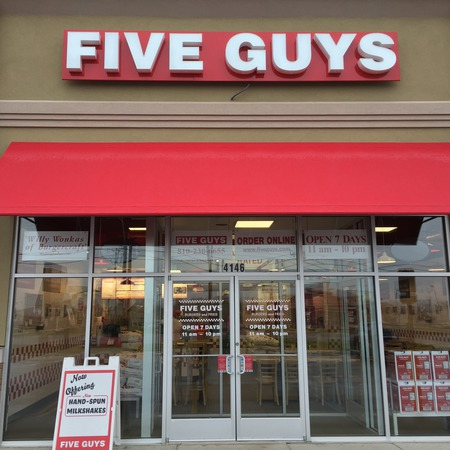 Five Guys at 4146 Miller Road in Flint Township, MI.