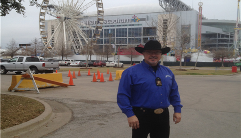 I volunteered for the Houston Livestock Show and Rodeo.