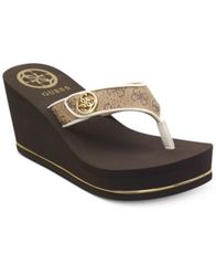 Image of GUESS Sarraly Eva Logo Wedge Sandals